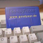 Speicherkarte mit Werbung, digital bedruckt;
