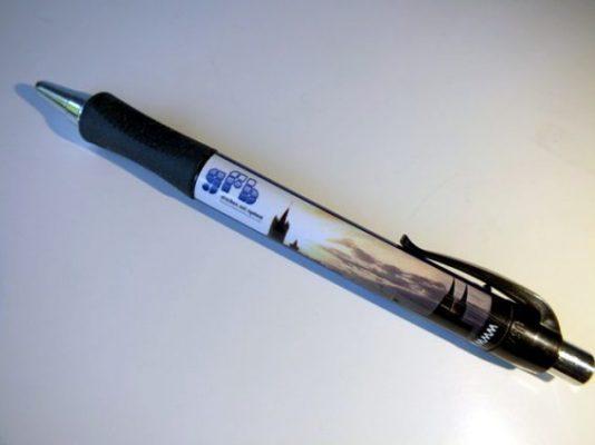 Kugelschreiber die Litfaßsäulen unter den Werbemitteln.