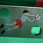 Mini-Tischfußball-Spiel als Werbeartikel vielfältig bedruckbar.