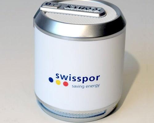 Elektrische Geräte als Werbeträger im Tampondruck bedruckt