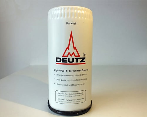 Ölfilter Siebdruck