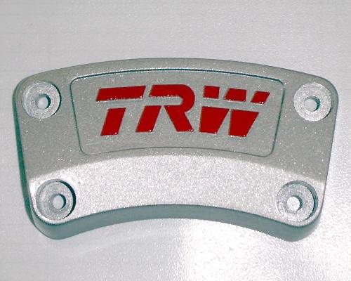 Im Tampondruckverfahren bedruckter Schriftzug auf Bremsklotz