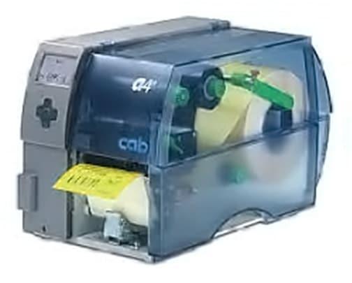 cab Thermo-Tranferdrucker drucken mittels Etikettensoftware unmittelbar aus dem Arbeitsspeicher eines PC.