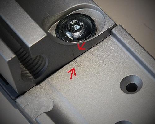 Im Laserdruckverfahren erstellte Linien- und Strichmarkierungen auf Industrieteile
