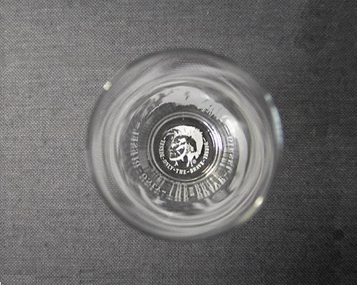 Glas gekennzeichnet im Laserdruckverfahren