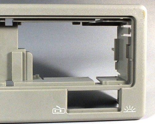 Kennzeichnung von Blenden für Autoinnenlicht