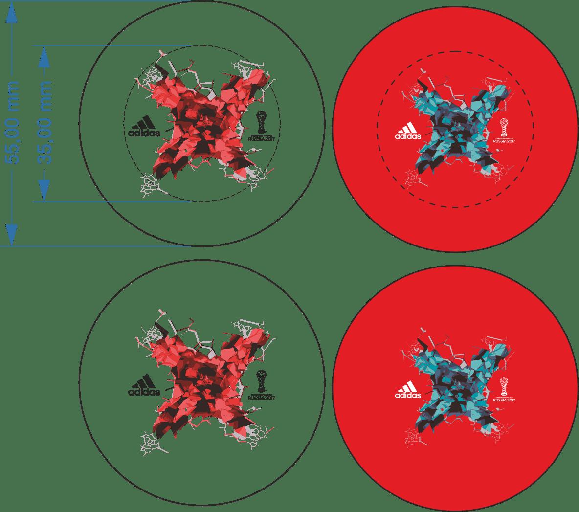 Skizze für den Loskugelaufdruck