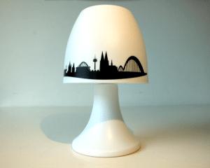 Im Siebdruck bedruckter Lampenschirm!