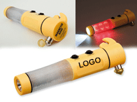 Rettungshammer Taschenlampe mit Magnet und zwei LED-Leuchten