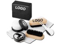 Schuhputzset für die Reise mit Ihrem Logo bedruckt
