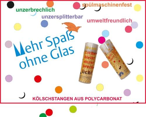 Kölschstangen aus Polycarbonat sind die Alternative