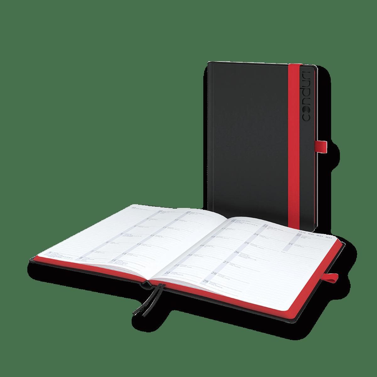 Terminkalender in zwei Farben für 2018