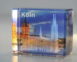 Glasbild mit Kölnmotiv