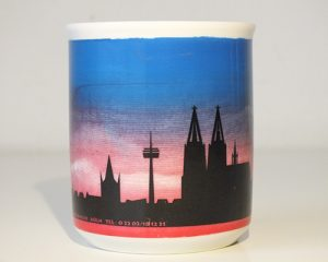 Bürotasse mit Kölnmotiv bedrucke