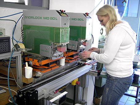 Einrichten der Tampondruckmaschine